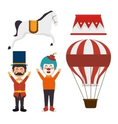 set elements circus show icons vector image
