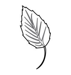 sticker figure leaf icon vector image vector image