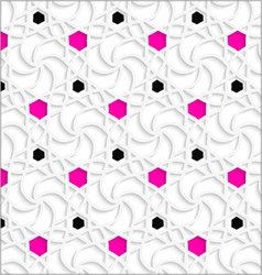 3d ornament with black and pink dots vector