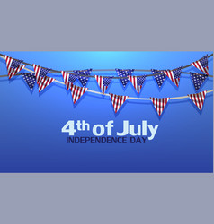 4th of july independence day usa sale banner vector image