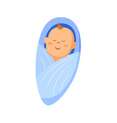 A baby boy icon swaddle vector