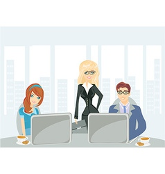 A meeting in a conference room vector
