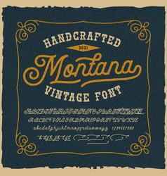 a vintage script font vector image