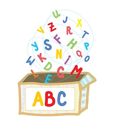Abc box funny concept of education vector image