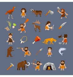 Ancient Flat Icons Collection vector image