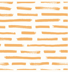 artistic seamless pattern with orange brush vector image