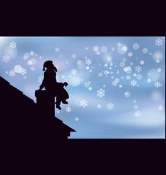 artwork background happy christmas santa claus is vector image