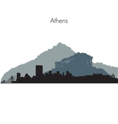 Athens skyline vector image