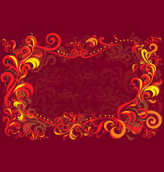 Background with traditional russian decor vector
