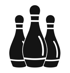 Bowling skittles icon simple style vector