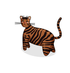 Character of toyger cat in kawaii style vector