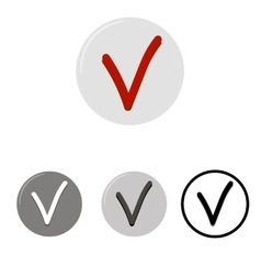 Check mark button icons vector image