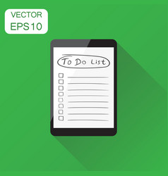checklist with tablet computer icon business vector image