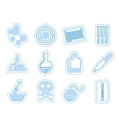 Chemistry industry icons vector