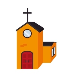 Church religious spiritual isolated vector