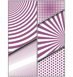 comic vertical composition vector image