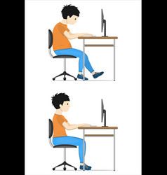 Correct posture at the vector