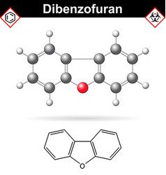 Dibenzofuran aromatic chemical compound vector