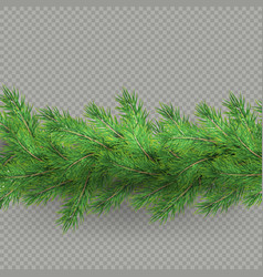 divider of realistic looking hristmas tree vector image