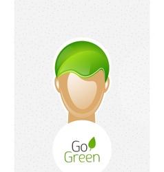 Eco green man concept vector image
