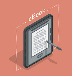 Electronic books icon isometric flat vector