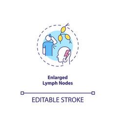 Enlarged lymph nodes concept icon vector
