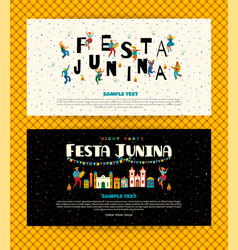 Festa junina templates vector