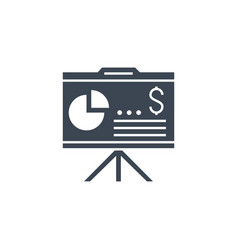 financial report related glyph icon vector image