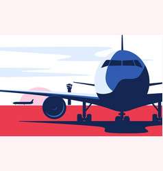 flat style airliner vector image