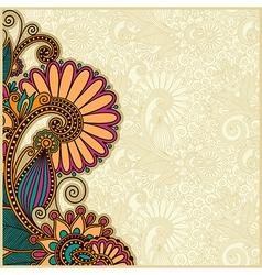 Flower background design vector