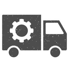 Gear Tools Delivery Car Icon Rubber Stamp vector