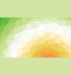 Geometric green orange spring texture background vector