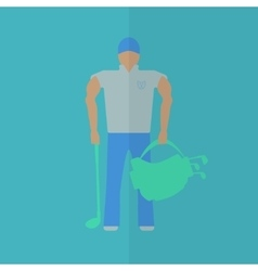 Golf player flat icon vector image