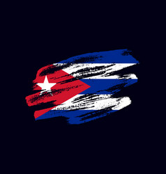grunge textured cuban flag vector image