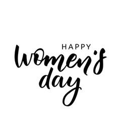 Happy women s day handwritten lettering modern vector