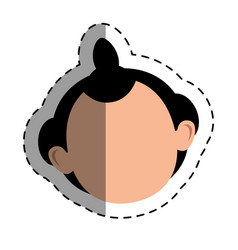 Japanese ethnic man avatar vector