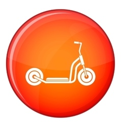 Kick scooter icon flat style vector