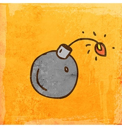Lit Bomb Cartoon vector