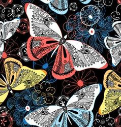 Lovely graphic pattern fancy butterflies vector