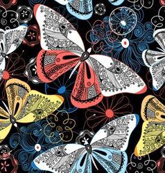 Lovely graphic pattern fancy butterflies vector