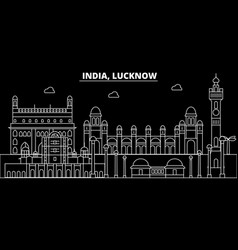 Lucknow silhouette skyline india - lucknow vector
