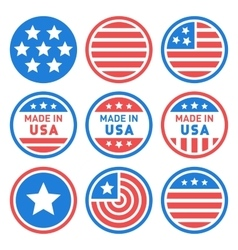 Made in USA Labels Set vector