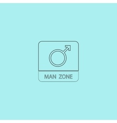 Male symbol man vector image