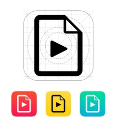 Media file icon vector