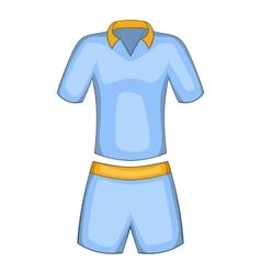 Men tennis uniforms icon cartoon style vector image