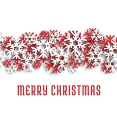 Merry Christmas snowflakes greeting card vector