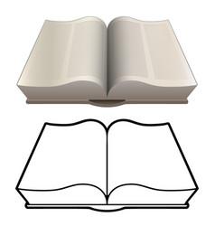 open book bible encyclopedia classic style vector image