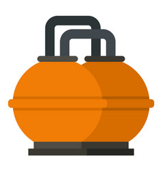 Orange fuel storage tank icon isolated vector