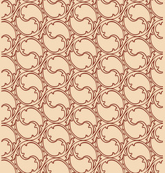 oriental line pattern abstract floral ornament vector image