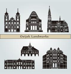 osijek landmarks vector image